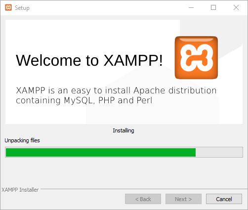 กระบวนการติดตั้ง  XAMPP