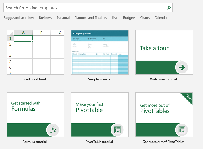 Excel 2019 Template