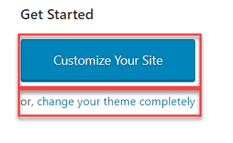 Customize Your Site