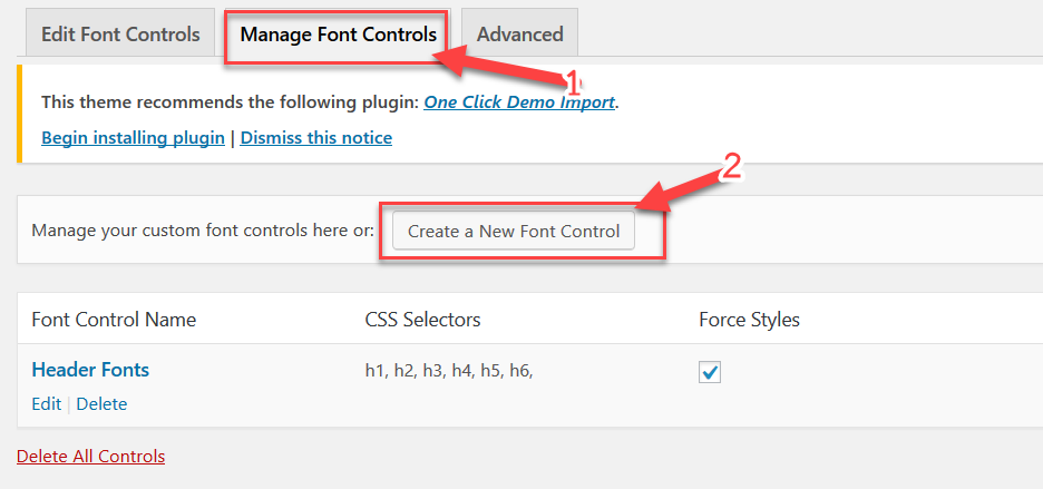 สร้าง Font Control ใหม่