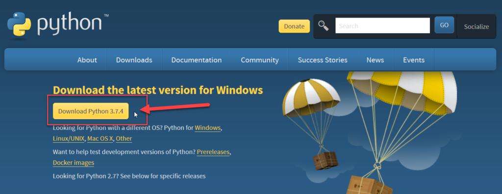 ดาวน์โหลด Python