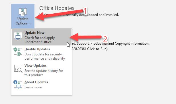 การอัพเดท Microsoft Office