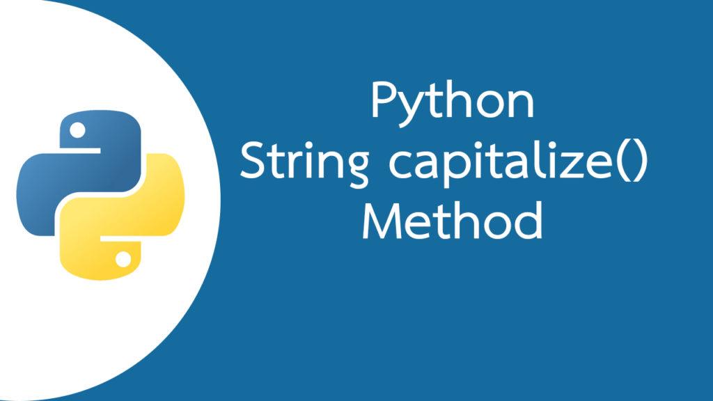 Python String capitalize() Method