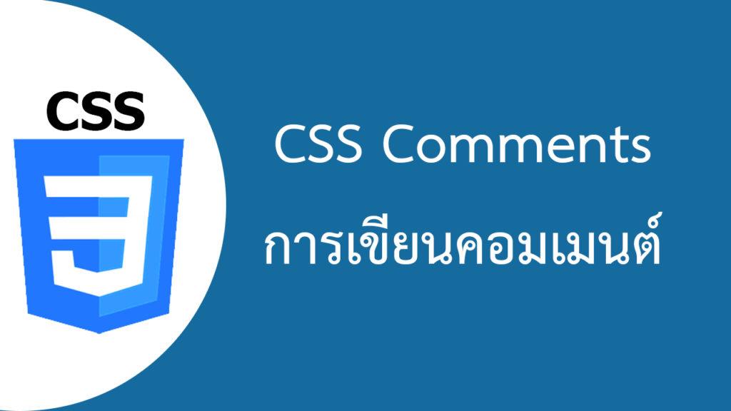 CSS Comments การเขียนคอมเมนต์ใน CSS